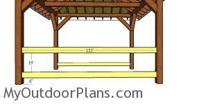 Fitting the cleats for the balusters - square gazebo