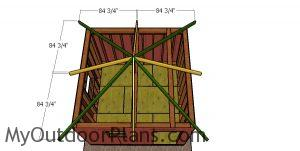 Fitting the hip rafters - 12x12 shed