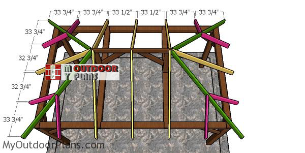 Fitting-the-jack-rafters---10x16-shed