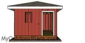 Fitting the jambs - 12x12 storage shed