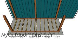 Fitting the joists - large wood shed plans