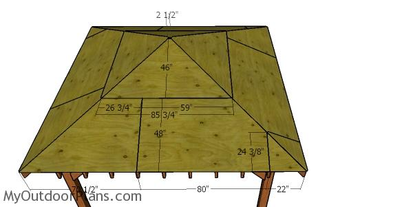 Fitting the roof sheets - 12x12 gazebo