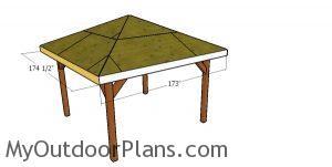 Fitting the roof trims - 12x12 gazebo
