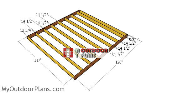 Floor-frame---10x10-shed