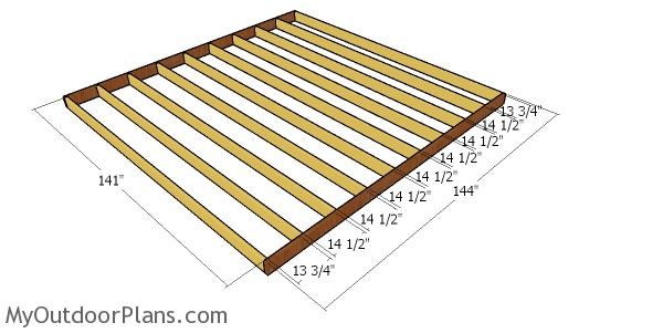 Floor frame - 12x12 shed