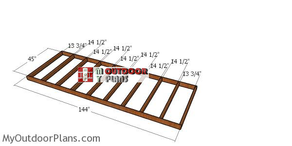 Floor-frame-4x12-shed