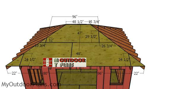 Front-and-back-roof-sheets---12x16-storage-shed