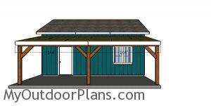 Front roof trims - one car attached carport