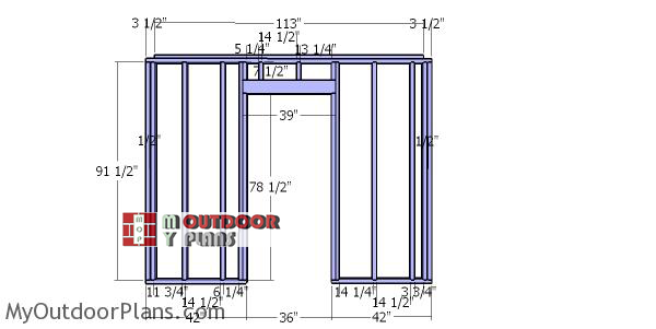 Front-wall-frame---10x10-storage-shed