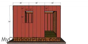 Front wall siding sheets - 12x12 shed