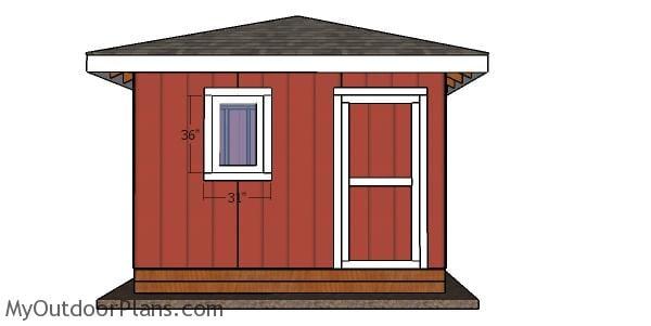12x12 Shed Door - DIY Plans
