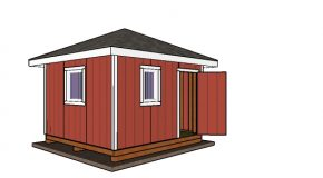 12×12 Shed with Hip Roof Plans