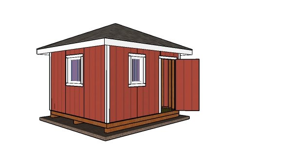 12x12 Shed with Hip Roof Plans