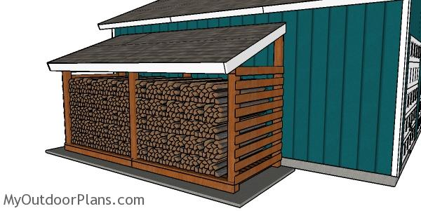 5 Cord Firewood Shed - Free DIY Plans