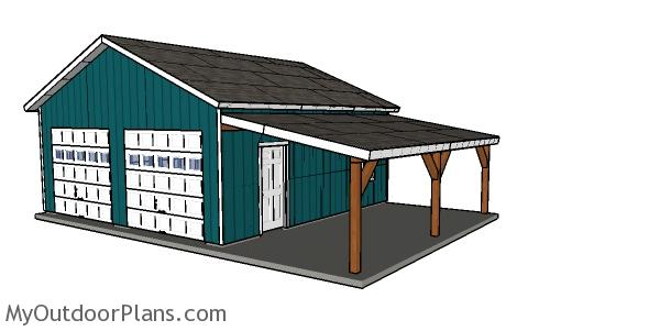 Carport Attached to the House Plans