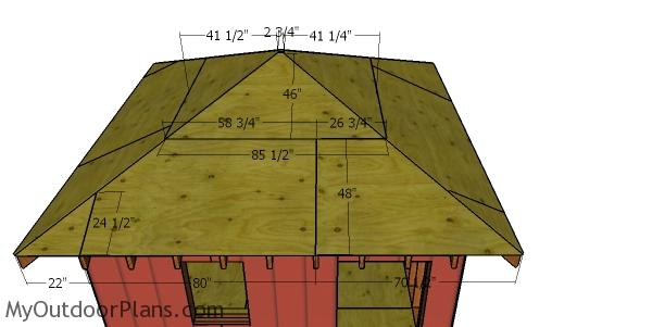 Roof sheets - 12x12 Hip Roof Shed