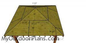 Roof sheets - 12x12 gazebo