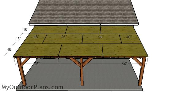 Roof sheets - Attached Carport