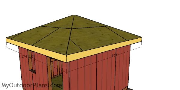 Roof trims - 12x12 shed