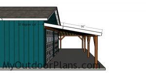 Side roof trims - corner patio cover plans