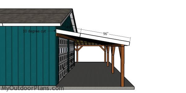 Side roof trims - corner patio cover plans