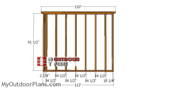 Side-wall-frame---10x10-shed