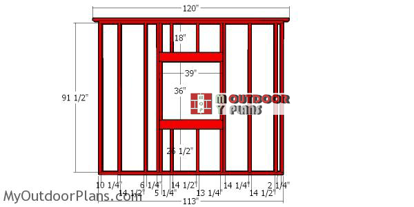 Side-wall-frame-with-window---10x10-shed