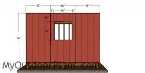 Side wall siding sheets - 12x12 shed with hip roof