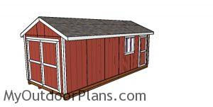 10x24 Gable Shed Plans