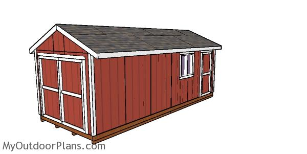 10x24 Shed - Free DIY Gable Plans