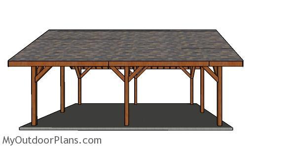 20x24 Pavilion Plans - side view