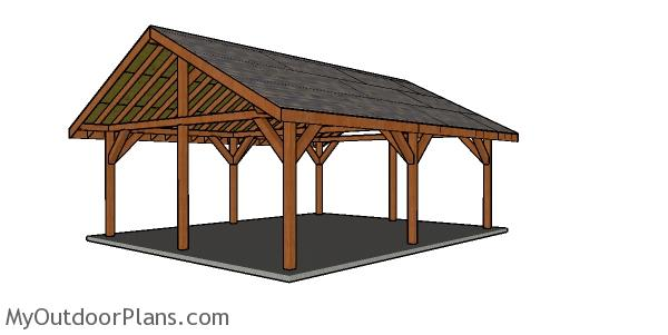 20x24 Pavilion Roof Plans Myoutdoorplans Free Woodworking Plans And Projects Diy Shed