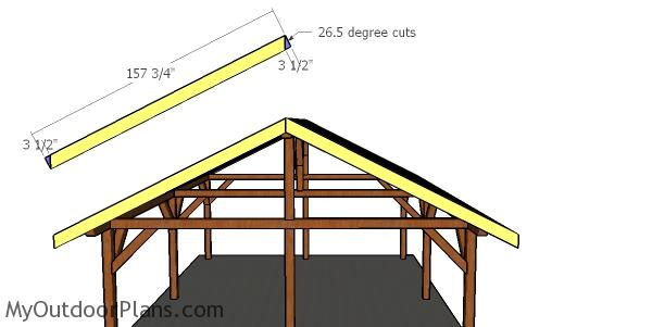 20x24 Pavilion - front and BACK ROOF TRIMS