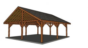 24×24 Outdoor Pavilion – Free DIY Plans