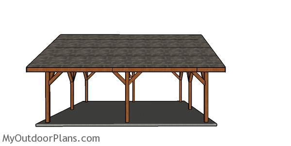 24x24 pavilion plans - Side view