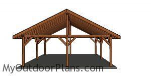 24x24 pavilion plans - front view