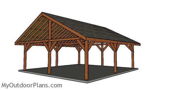 24x24 Outdoor Pavilion - Free DIY Plans