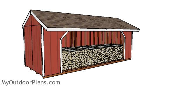 8 cord firewood shed plans