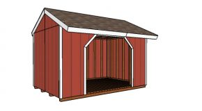 8×12 Firewood Shed Plans