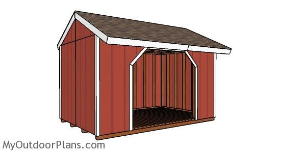 8x12 Firewood Shed Plans
