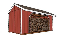 8×16 Firewood Shed Plans