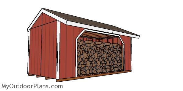 8x16 Firewood Shed Plans
