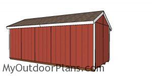 8x20 Firewood Shed - Back View