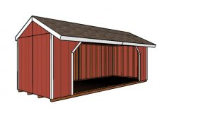 8×20 Firewood Shed – Free DIY Plans