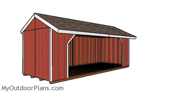 8x20 Firewood Shed Plans