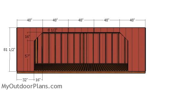8x20 Firewood Shed - front wall panels