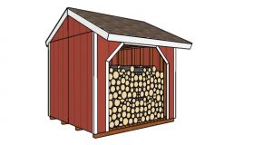 8×8 Firewood Shed Plans