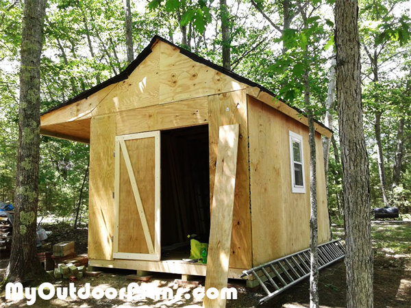 Adding-the-double-doors-to-the-shed-porch