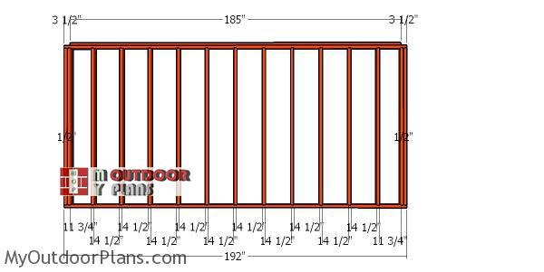 Back-wall-frame---10x16-wood-shed