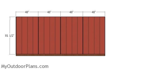 Back wall panels - 8x16 shed